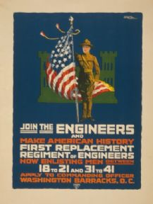Vintage WW1 Recruitment Poster for Engineers